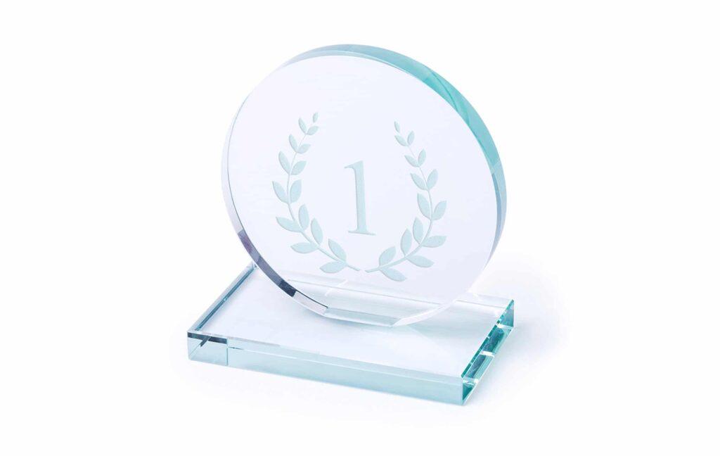 placas de cristal personalizadas